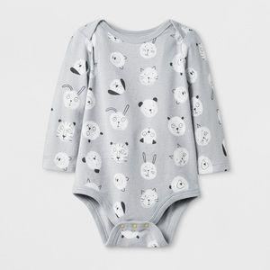 NWT baby Cat & Jack Animals onesie long sleeves